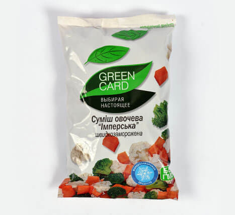 «Vegetable mix» Deep frozen vegetables and fruits