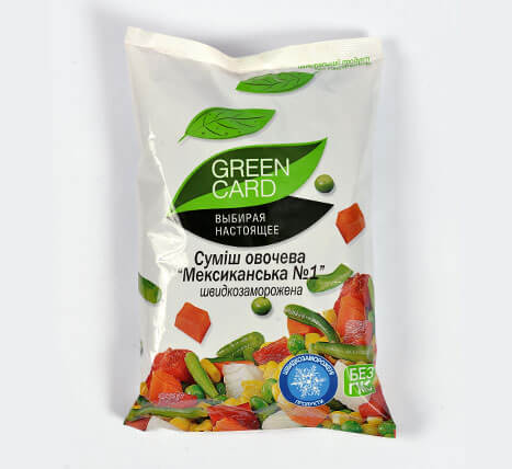 "«Vegetable mix ""Mexican No.1""» Deep frozen vegetables and fruits"