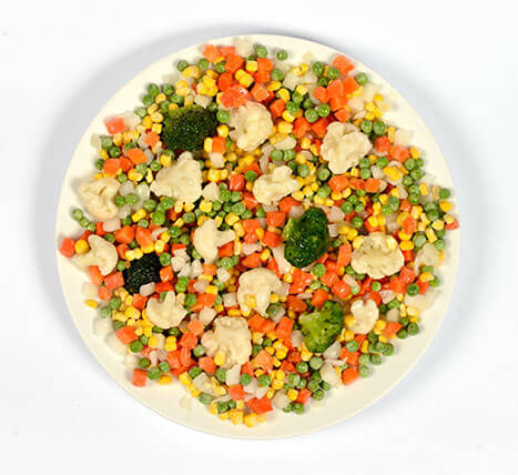 "«Vegetable mix ""Mosaic"", sold by weight» Deep frozen vegetables and fruits"